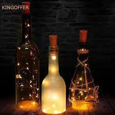 silver wine bottles 10pcs 2m 20led wine bottle light cork shape battery silver wire