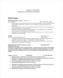 Customer Service Job Responsibilities Resume by Sample Sales Resume 9 Examples In Pdf Word
