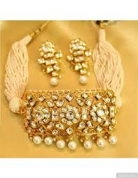 choker necklace pearls images Kundan and pearls choker necklace set jpg