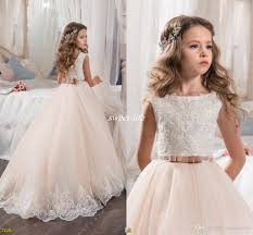 custom made flower dresses for wedding blush pink princess