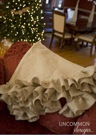 burlap tree skirt no sew tree skirt tutorial uncommon designs