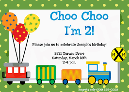 Sample Of Birthday Invitation Card For Kids 9 Train Birthday Invitations For Kid U2013 Free Printable Templates