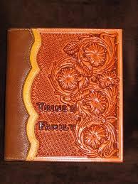 custom leather photo album line c saddle shop book covers