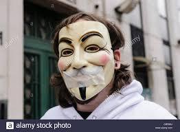 V For Vendetta Mask Member Of The Hacker Group
