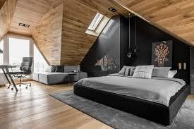 attic bedroom masculine attic bedroom in poland exudes character freshome com