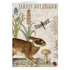 vintage rabbit vintage rabbit greeting cards zazzle