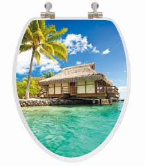 Oblong Toilet Seat Island Beach House 3d Image Toilet Seat Elongated Potty