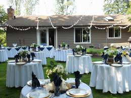 Small Backyard Wedding Ideas Real Backyard Wedding Wedding Reception Photos On Weddingwire