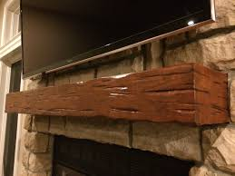 buy a hand crafted rustic distressed cherry mantel made to order