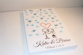 bridal shower sign in book canvas guest books guest book alternative wedding guest book