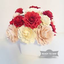ship flowers charity blooms paper flower arrangement pink and ivory