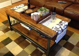 Wooden Coffee Table With Wheels by Wood And Metal Coffee Tables U2013 Thelt Co