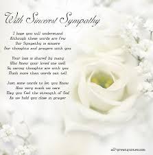 condolences card with sincerest sympathy free sympathy cards to