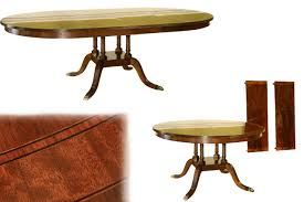 Mahogany Dining Room Table And Chairs by American Made Round To Oval Mahogany Dining Table With Leaves