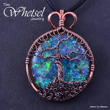 pendant wire necklace images Copper tree of life orgonite necklace pendant wire wrap jpg