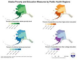A Map Of Alaska by Gis Exchange Map Details Alaska Poverty And Education Measures