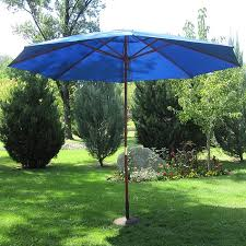 Overstock Patio Umbrella Pacific Blue Wood 13 Ft Patio Outdoor Umbrella Free Shipping