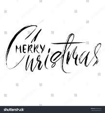 merry christmas modern hand drawn phrase merry christmas modern stock vector 640450120