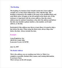 parts of a business letter 8 download free documents in pdf ppt