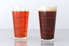 University Of Arizona Map Tucson Az University Of Arizona College Town Map Pint Glass