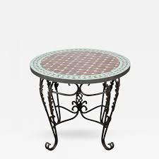 moroccan round coffee table moroccan round mosaic tile side table indoor or outdoor