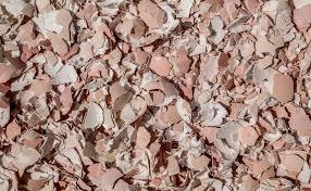 ground eggshells crushed egg shells stock image image of ground eggshells 92117899