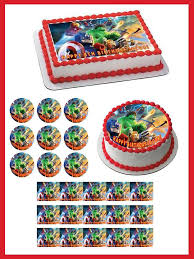 marvel cake toppers lego marvel superheroes edible birthday cake or cupcake topper