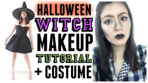easy halloween witch makeup tutorial costume youtube