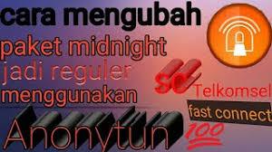 setting anonytun midnight mengubah kuota midnight jadi kuota reguler dengan anonytun full