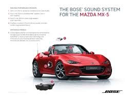 mazda mx5 mx 5 miata features redesigned bose sound system inside mazda