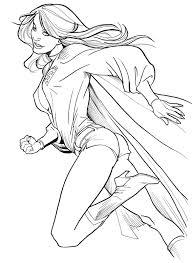 dessins de coloriage super héros fille à imprimer