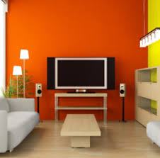 home design easy on the eye accent wall color bination on study