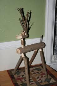 log reindeer log reindeer barn wood furniture rustic barnwood and log
