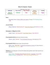 mla citation for an essay     Other In Text Citations