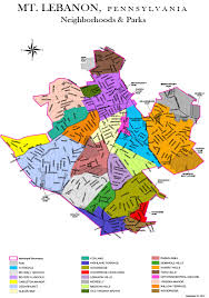 Lebanon Hills Map Gis Layers Of Data Mt Lebanon Magazine