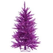 purple artificial tree lights decoration