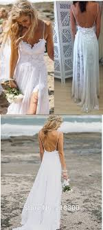 Tumblr Sexy Bride - backless lace chiffon beach wedding dress white destination bridal