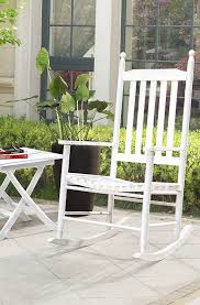 White Rocking Chair Outdoor by Amazon Com Sunjoy Safavieh Shasta White Wood Rocking Chair