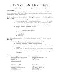 Blank Sample Resume by Resume Sample Massage Therapist Resume