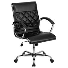 Blue Leather Executive Office Chair Desk Chairs Home Office Furniture The Home Depot