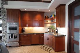 affordable custom cabinets showroom thumb kitchen contemporary style sapele medium color recessed panel corner sink dishwasher front panel corner floating
