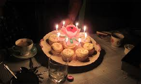 spinning birthday candle and singing birthday candle