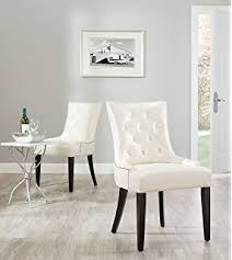 White Tufted Dining Chairs Amazon Com Safavieh Mercer Collection Christine French Writing