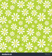 raster seamless background pattern daisies lime stock illustration