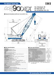 crawler crane cch900ex ihi construction machinery limited pdf