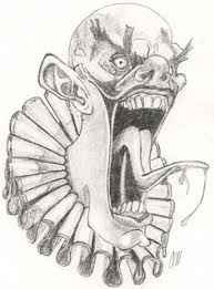 coloring pages of scary clowns evil jester by markfellows deviantart com on deviantart ink