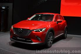 mazda cx3 2015 2015 mazda cx 3 front three quarter view at 2015 geneva motor show