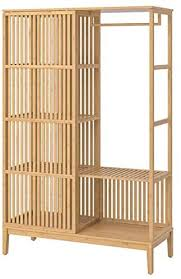 ikea kitchen cabinet sliding doors ikea nordkisa open wardrobe with sliding door bamboo 47 1 4x73 1 4 004 394 68