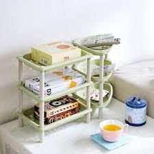 Wall Spice Racks For Kitchen Diy 3 Layers Plastic Wall Corner Shelf Makeup Organizer Desktop