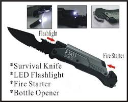 Groomsmen Gifts Knife 1 Personalized Engraved Pocket Rescue Hunting Knife Led